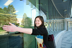 BA Student Bonnie Klohn Embracing TRU's House of Learning