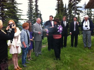 Smudging Ceremony, with Kamloops Mayor in Attendance